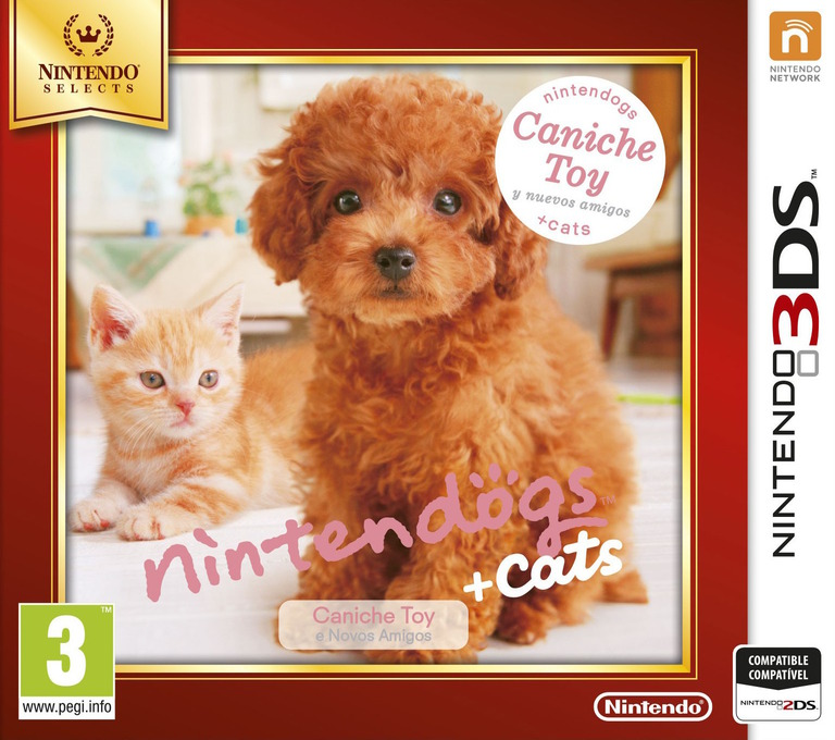 Nintendogs + Cats - Caniche Toy y nuevos amigos 3DS coverHQB (ADCP)