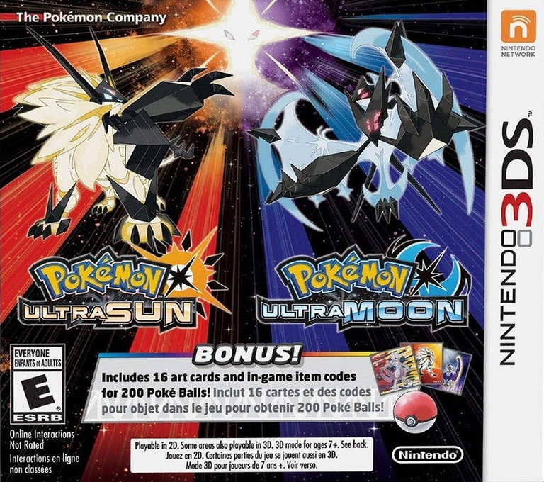 Pokémon Ultra Sun 3DS coverHQB (A2AE)