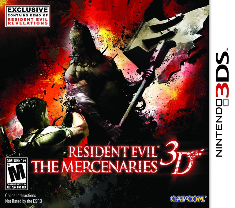 Resident Evil - The Mercenaries 3D 3DS coverHQB (ABME)