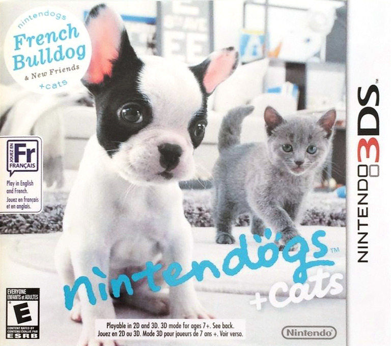 Nintendogs + Cats - French Bulldog & New Friends 3DS coverHQB (ADBE)