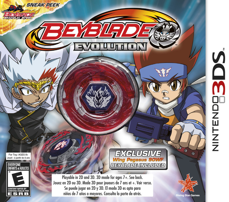 Beyblade - Evolution 3DS coverHQB (ARXE)