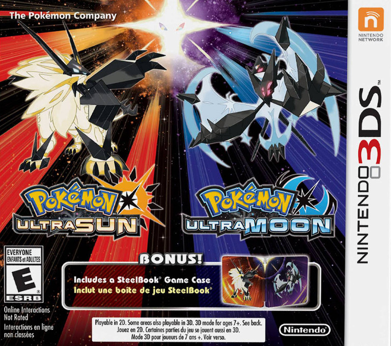 Pokémon Ultra Sun 3DS coverHQB2 (A2AE)