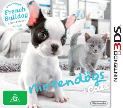 Nintendogs + Cats - French Bulldog & New Friends 3DS coverM (ADBP)