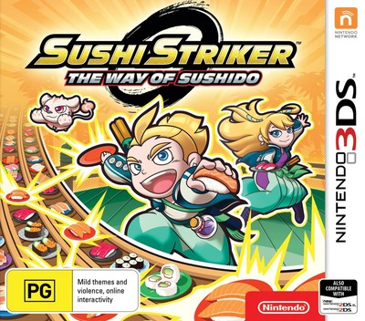 Sushi Striker: The Way of Sushido 3DS coverM (AFWP)
