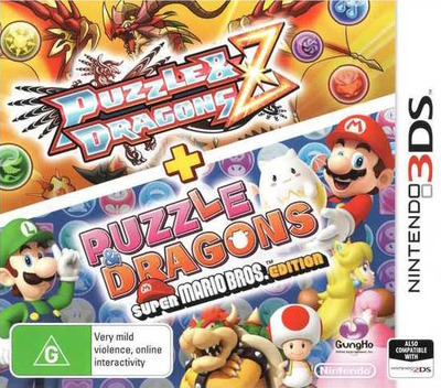 Puzzle & Dragons Z + Puzzle & Dragons Super Mario Bros. Edition 3DS coverM (AZGP)