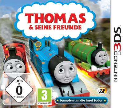 Thomas & Seine Freunde - Dampfen um die Insel Sodor 3DS coverM (BTBP)