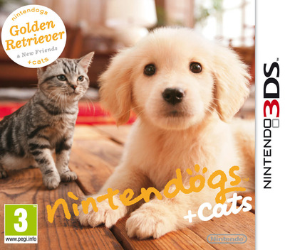 Nintendogs + Cats - Golden Retriever & New Friends 3DS coverM (ADAP)