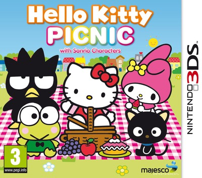 Hello Kitty Picnic with Sanrio Characters 3DS coverM (AHLD)