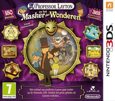 Professor Layton en het Masker der Wonderen 3DS coverM (AKKH)