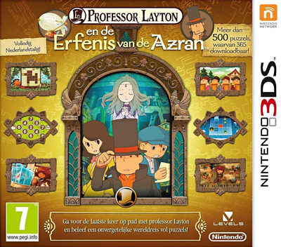 Professor Layton en de Erfenis van de Azran 3DS coverM (AL6H)