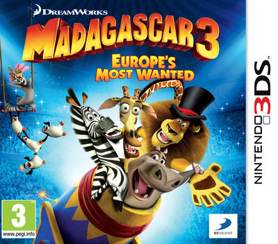 Madagascar 3 - Europe's Most Wanted 3DS coverM (AMCP)