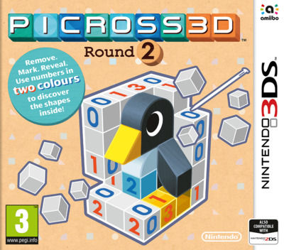 Picross 3D: Round 2 3DS coverM (BBPP)