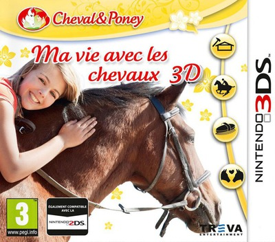 Life with Horses 3D 3DS coverM (BMGP)