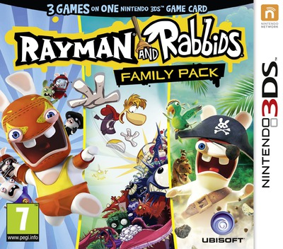 Rayman and Rabbids Family Pack 3DS coverM (BRRP)