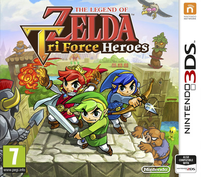 The Legend of Zelda - Tri Force Heroes 3DS coverM (EA3P)