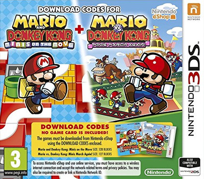 Mario and Donkey Kong - Minis on the Move 3DS coverM (JB7P)