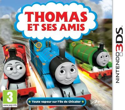Thomas et Ses Amis - Toute vapeur sur l'île de Chicalor 3DS coverM (BTBP)
