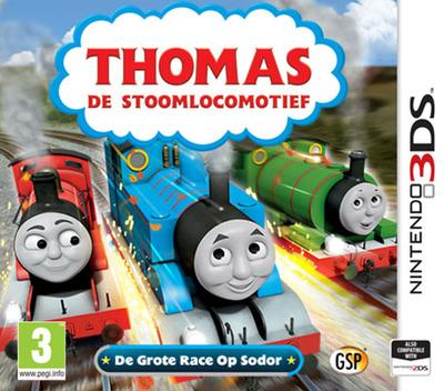 Thomas de Stoomlocomotief - De Grote Race Op Sodor 3DS coverM (BTBP)