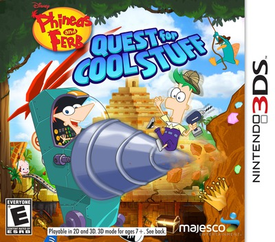 Phineas and Ferb - Quest for Cool Stuff 3DS coverM (AAWE)