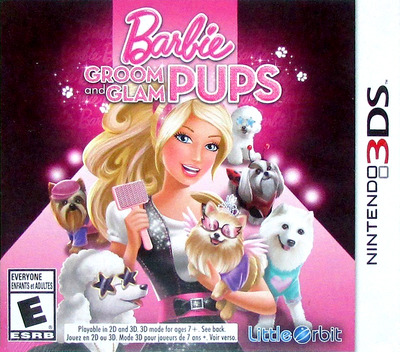 Barbie Groom & Glam Pups 3DS coverM (ABYE)