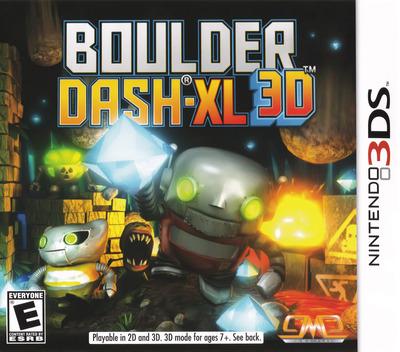 Boulder Dash-XL 3D 3DS coverM (ABZE)