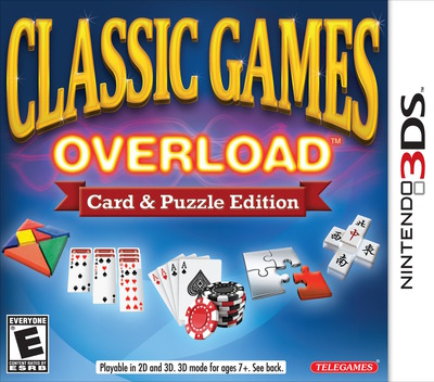 Classic Games Overload - Card & Puzzle Edition 3DS coverM (ACGE)