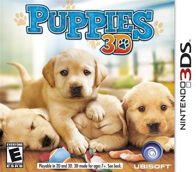 Puppies 3D 3DS coverM (ACTE)