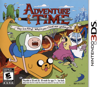 Adventure Time - Hey Ice King! Why'd You Steal Our Garbage!! 3DS coverM (AD4E)
