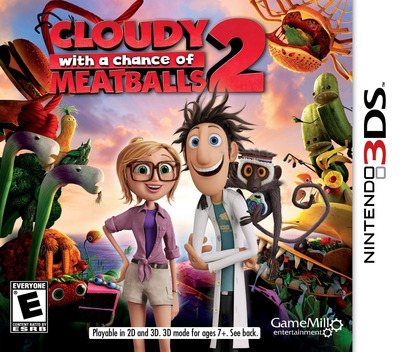 Cloudy with a Chance of Meatballs 2 3DS coverM (AD5E)