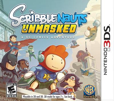 Scribblenauts Unmasked - A DC Comics Adventure 3DS coverM (AD6E)