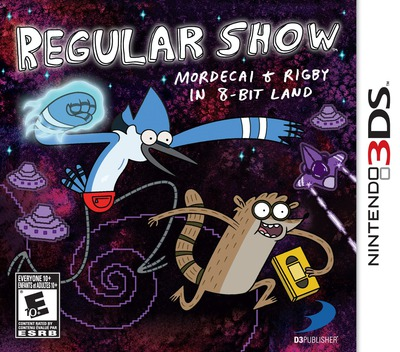 Regular Show - Mordecai and Rigby in 8-bit Land 3DS coverM (AEBE)