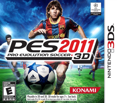 Pro Evolution Soccer 2011 3D 3DS coverM (AEEE)
