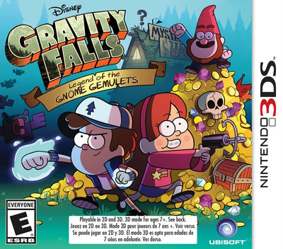 Gravity Falls - Legend of the Gnome Gemulets 3DS coverM (AGFE)