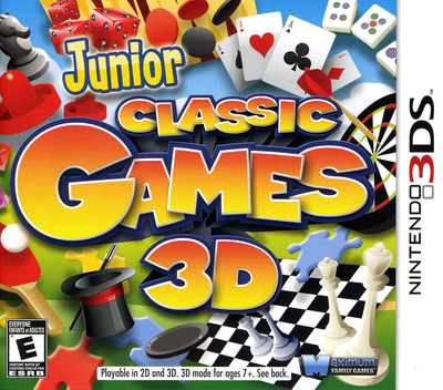 Junior Classic Games 3D 3DS coverM (AJCE)