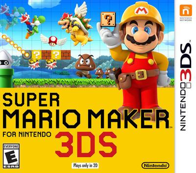 Super Mario Maker for Nintendo 3DS 3DS coverM (AJHE)