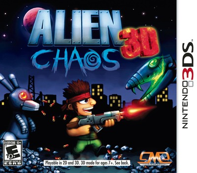 Alien Chaos 3D 3DS coverM (AM2E)