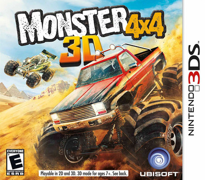 Monster 4x4 3D 3DS coverM (AM4E)