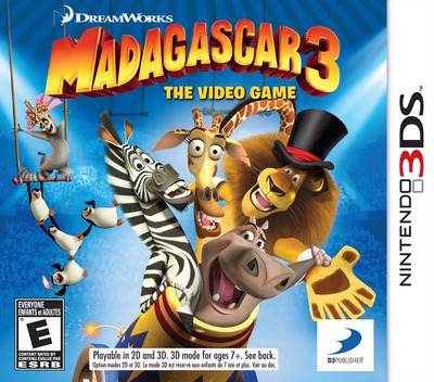 Madagascar 3 - The Video Game 3DS coverM (AMCE)