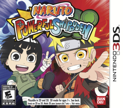 Naruto Powerful Shippuden 3DS coverM (AN4E)