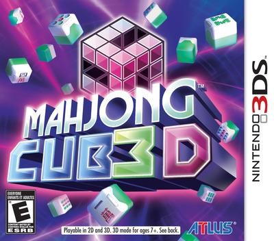 Mahjong Cub3D 3DS coverM (ASHE)