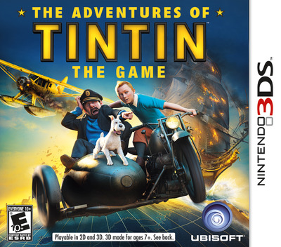 The Adventures of Tintin - The Game 3DS coverM (ATNE)