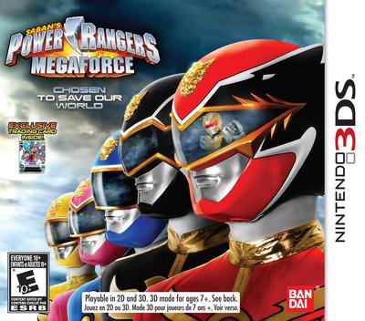 Saban's Power Rangers: Megaforce 3DS coverM (AZBE)