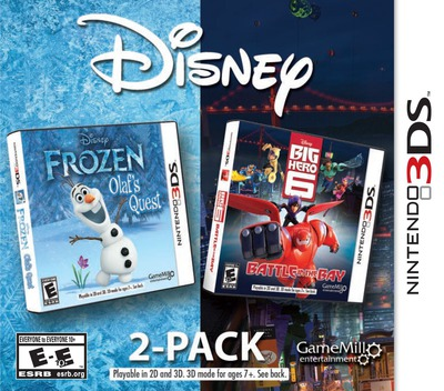 Disney Frozen: Olaf's Quest and Disney Big Hero 6: Battle in the Bay 3DS coverM (BF6E)