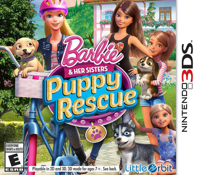 Barbie & Her Sisters - Puppy Rescue 3DS coverM (BRQE)