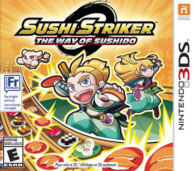 Sushi Striker: The Way of Sushido 3DS coverM (AFWE)