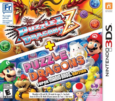 Puzzles & Dragons Z + Puzzles & Dragons Super Mario Bros. Edition 3DS coverM (AZGE)