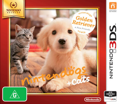 Nintendogs + Cats - Golden Retriever & New Friends 3DS coverMB (ADAP)