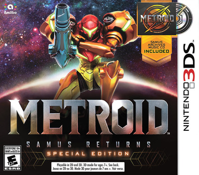 Metroid: Samus Returns 3DS coverMB (A9AE)