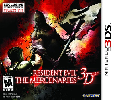Resident Evil - The Mercenaries 3D 3DS coverMB (ABME)