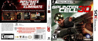 Tom Clancy's Splinter Cell 3D 3DS cover (ASCZ)